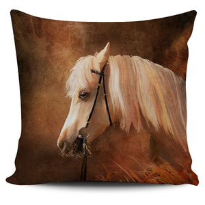 White Horse Pillow Cover