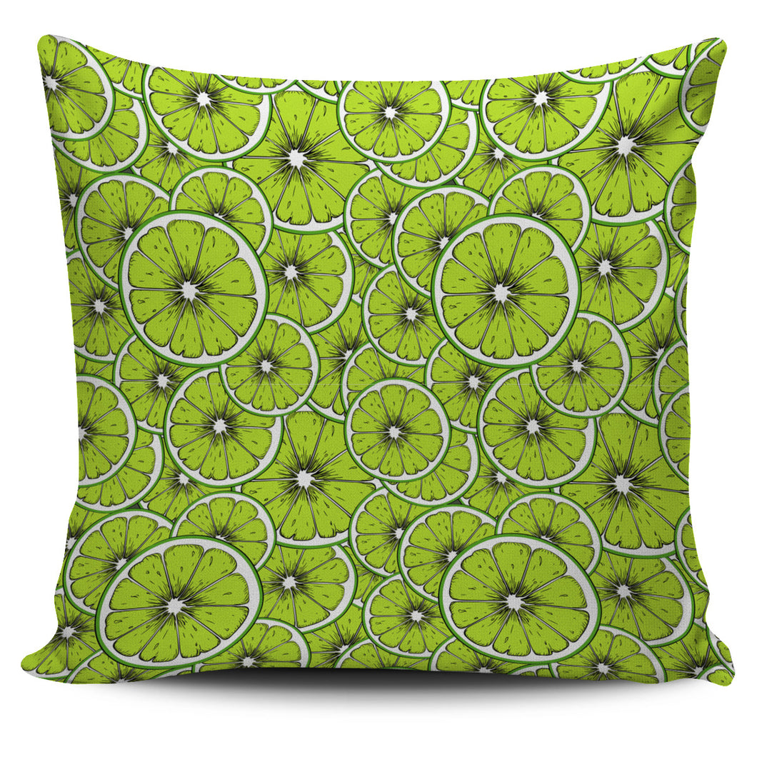 Slices of Lime design pattern Pillow Cover