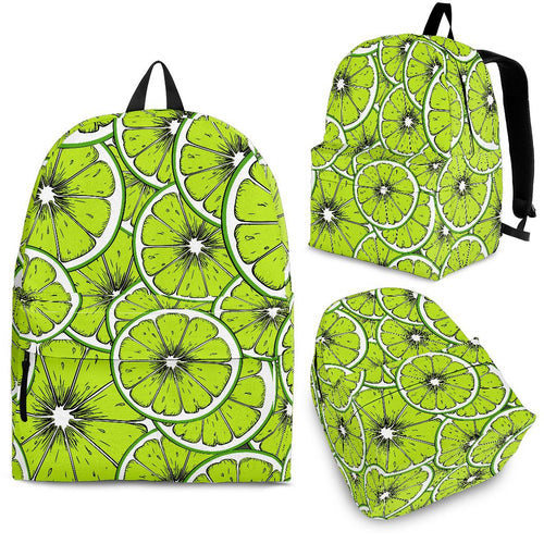 Slices of Lime design pattern Backpack