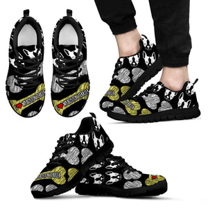 I Love My Boston Terrier Men'S Sneakers