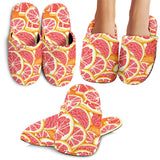 Tropical Grapefruit Pattern Slippers