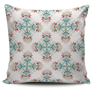 Square floral indian flower pattern Pillow Cover