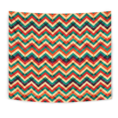 Zigzag  Chevron Colorful Pattern Wall Tapestry