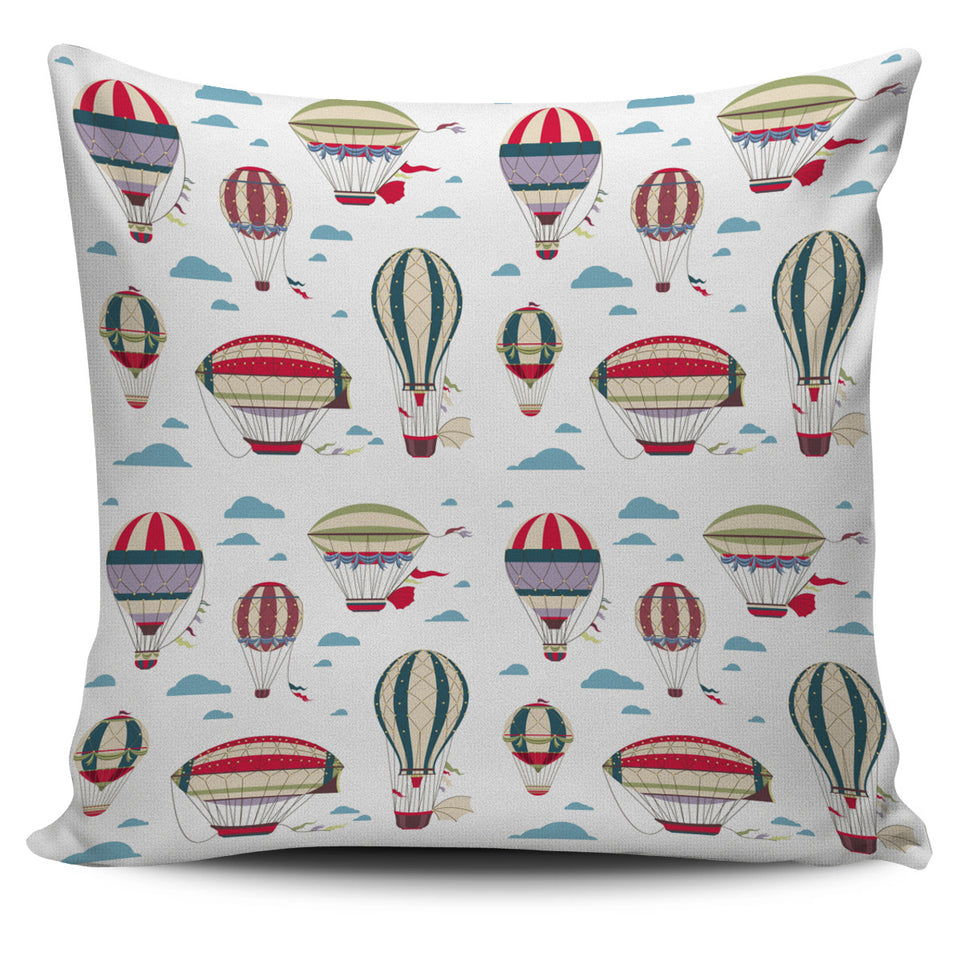 Hot Air Balloon Pattern Pillow Cover