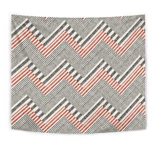 Zigzag Chevron Striped Pattern Wall Tapestry