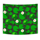 Frog Waterlily Pattern Wall Tapestry