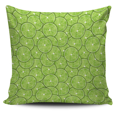 Slices of Lime pattern Pillow Cover