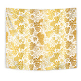 Gold Grape Pattern Wall Tapestry