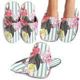 Colorful Orchid Flower Pattern Slippers