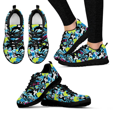Boston Terrier Women'S Sneakers