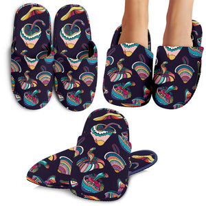 Colorful Mushroom Pattern Slippers