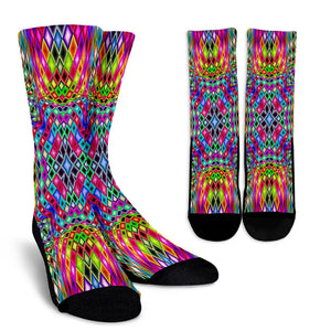 Kaleidoscope Crew Socks