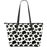 Cow skin pattern Large Leather Tote Bag