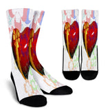 Hearts & Flowers Crew Socks