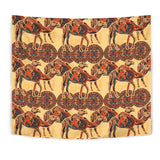 Camel Polynesian Tribal Design Pattern Wall Tapestry