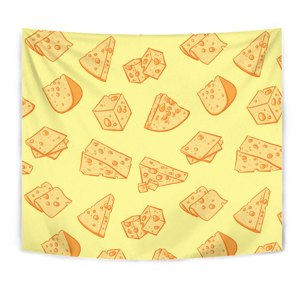 Cheese Design Pattern Wall Tapestry