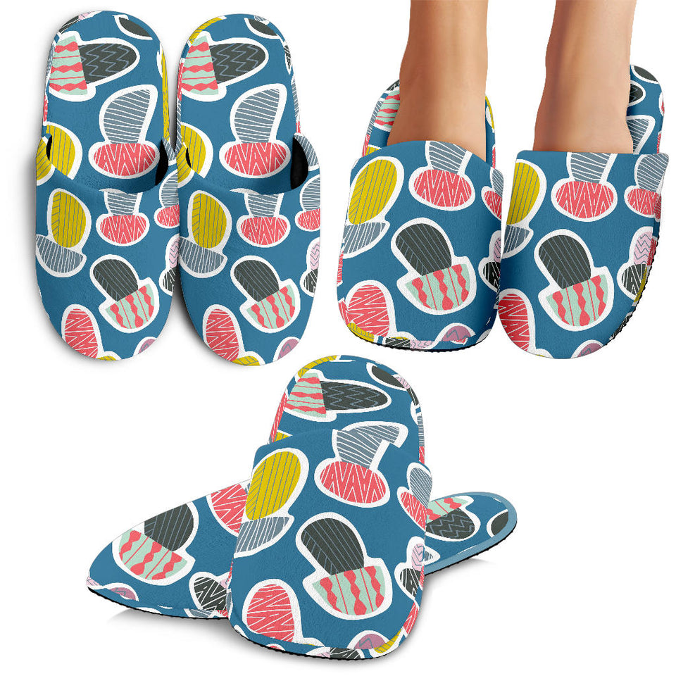 Colorful Mushroom Design Pattern Slippers