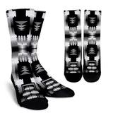 Black And White Fire Crew Socks