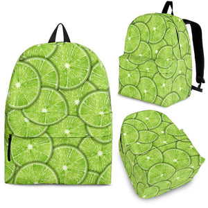 Slices of Lime pattern Backpack