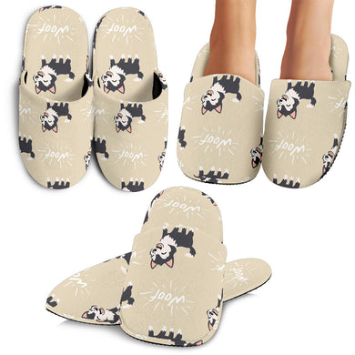 Cute Siberian Husky Slippers