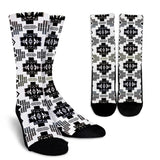 Seven Tribes Black And White Crew Socks