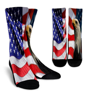 American Flag and Bald Eagle Crew Socks