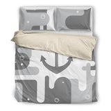 Anchor Bedding  Nautical Bedding Two Tones ccnc006 bt0171