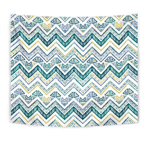 Zigzag  Chevron Paint Design Pattern Wall Tapestry
