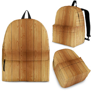 Wood Printed Pattern Print Design 05 Backpack