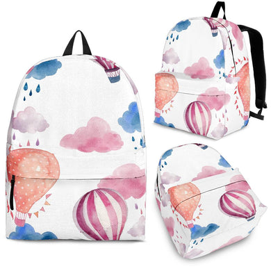 Watercolor air balloon cloud pattern Backpack