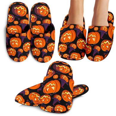 Halloween Pumpkin Pattern Slippers