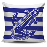 Pillow Cover - Stripe Anchor Ccnc006 Bt0170