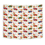 Corgi Christmas Pattern Wall Tapestry