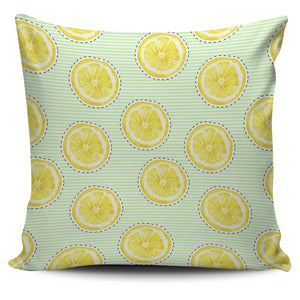 slice of lemon pattern Pillow Cover