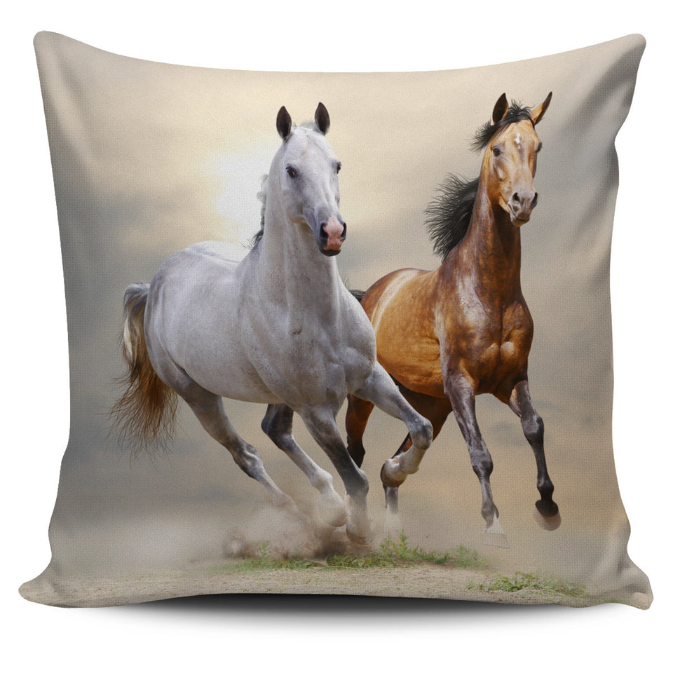 Horses Pillow Cover