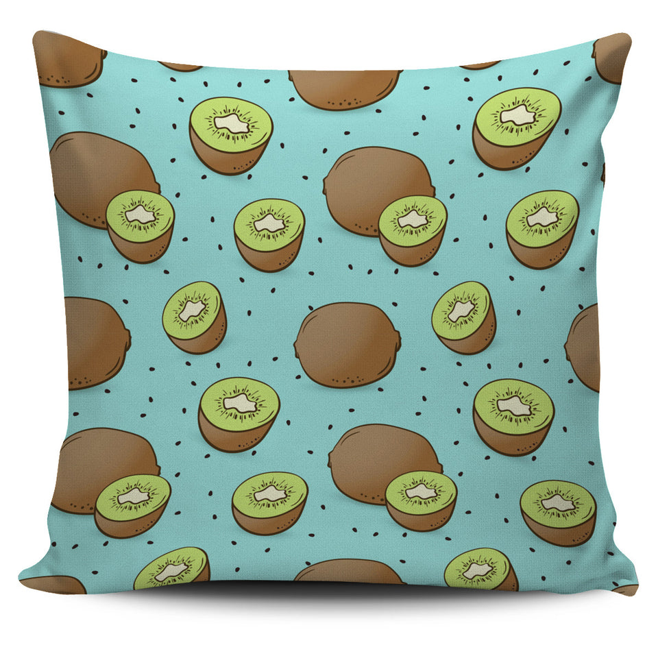 Kiwi Blue Background Pillow Cover