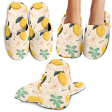 Lemon Flower Llemon Flower Leave Pattern Slipperseave Pattern Slippers