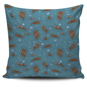 Sea otters pattern Pillow Cover