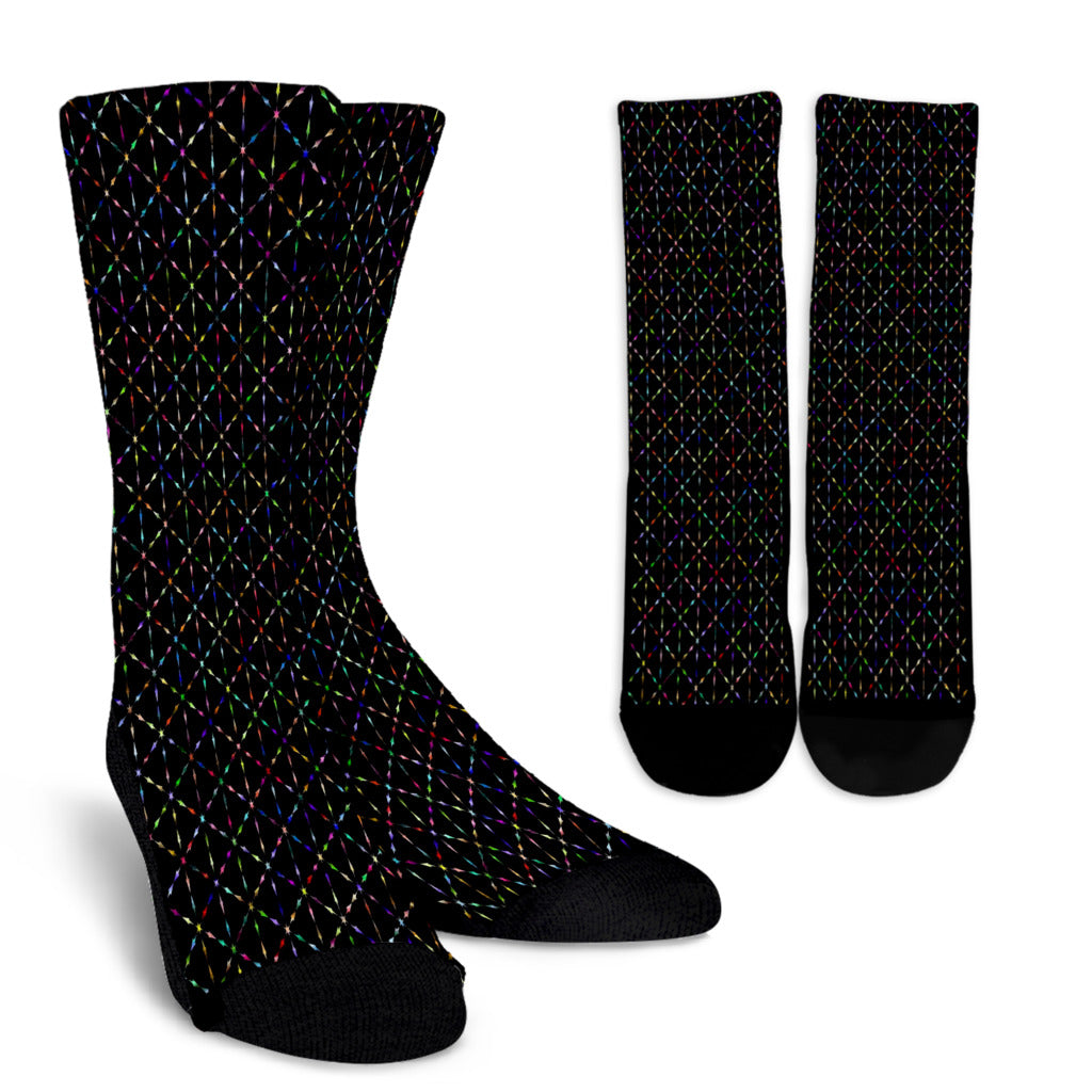 Prismatic Starburst Crew Socks