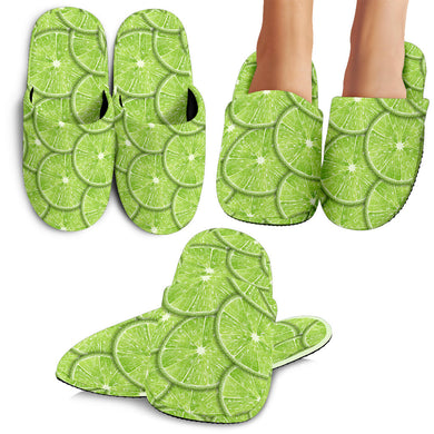 Slices Of Lime Pattern Slippers