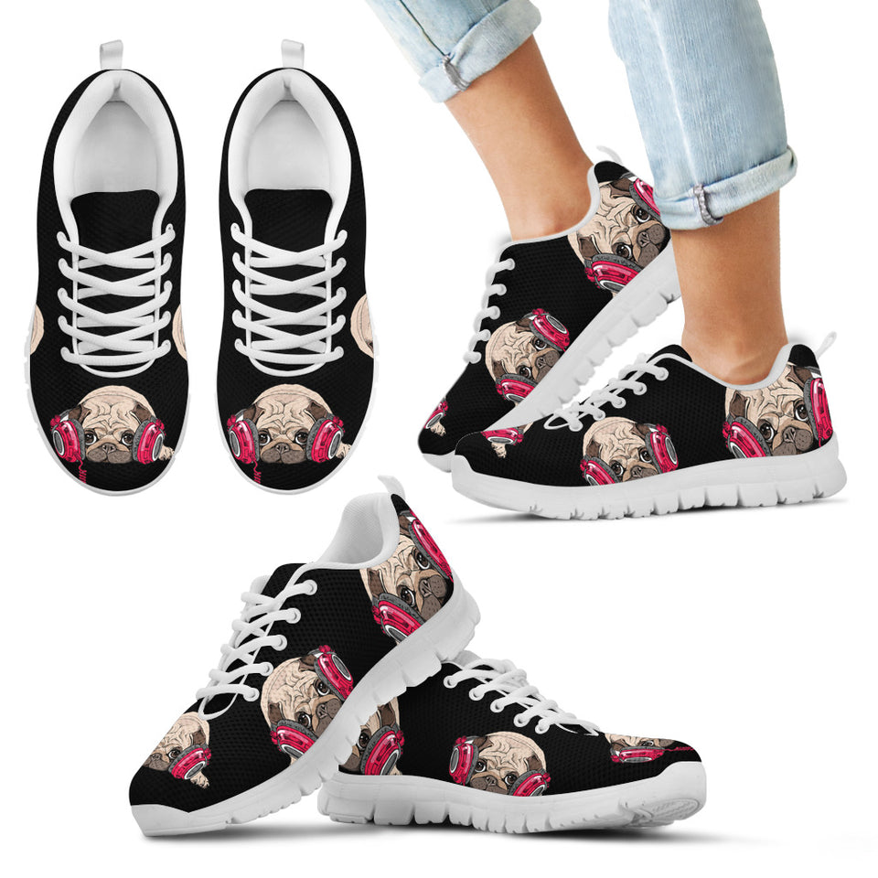 Pug Listen Music Kid'S Sneakers