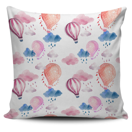 Watercolor air balloon cloud pattern Pillow Cover