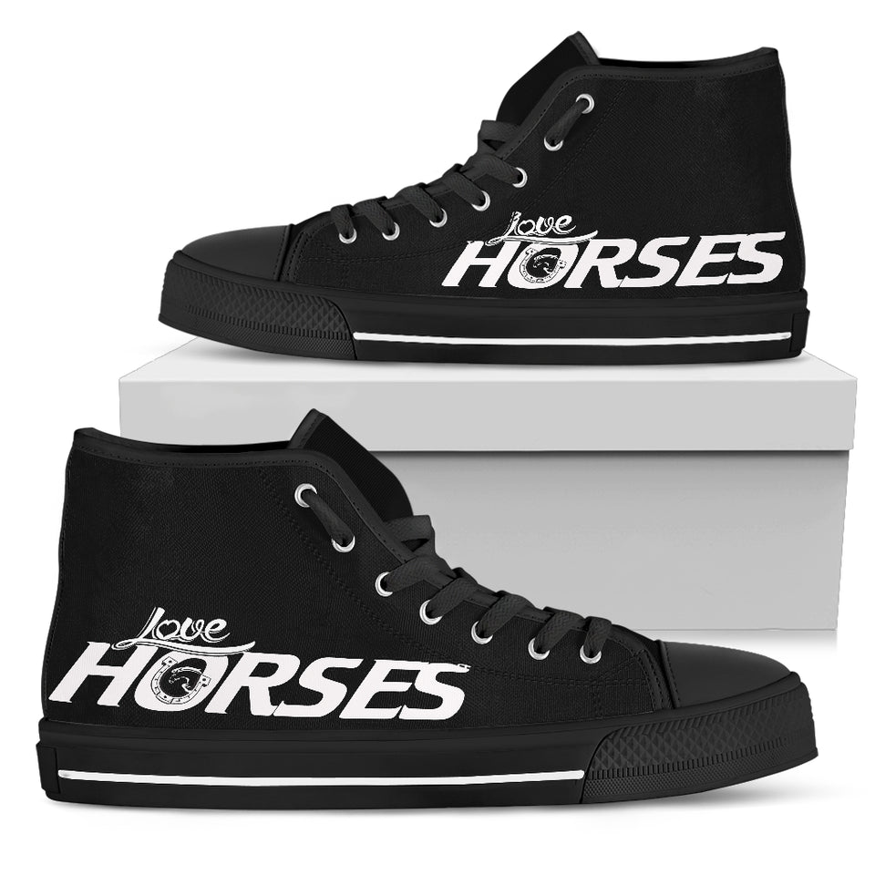Love horses Women's High Top