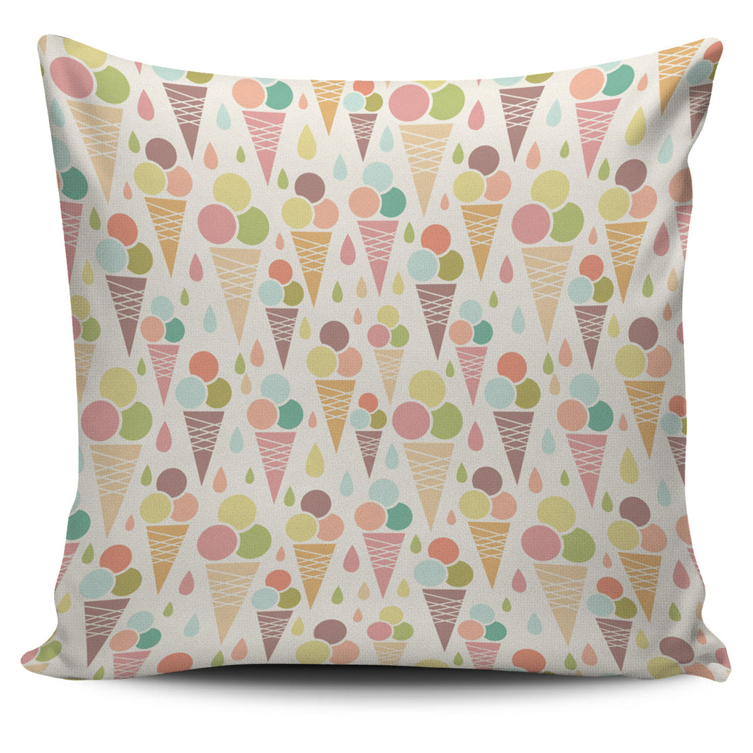 Ice Cream Cone Pattern Pillow Cover