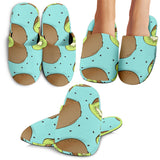 Kiwi Blue Background Slippers