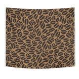 Coffee Bean On Brown Background Wall Tapestry