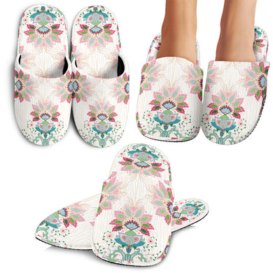 Square Floral Indian Flower Pattern Slippers
