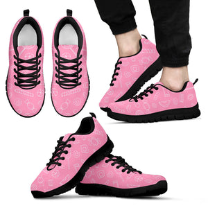 Sweet candy pink background Men's Sneaker Shoes