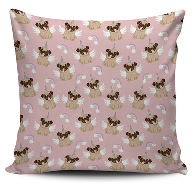 Cute unicorn pug pattern Pillow Cover