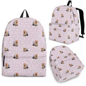 Yorkshire Terrier Pattern Print Design 02 Backpack